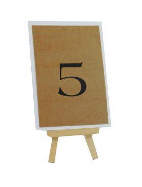 Numeracja stołów Kolekcja koronka EKO na mini sztaludze