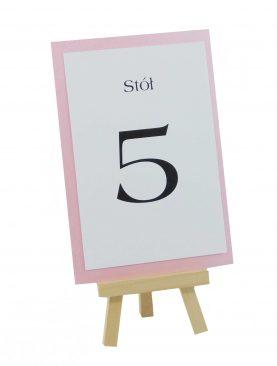 Numeracja stołów - Kolekcja Koronka z dodatkiem pudrowego różu