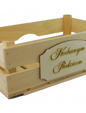 Skrzynka dla Rodziców drewniana, szlifowana
