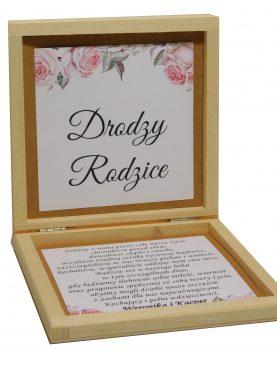 Zaproszenie dla Rodziców w drewnianej szkatułce