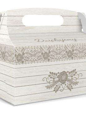 Pudełko komunijne na ciasta - podziękowania dla gości
