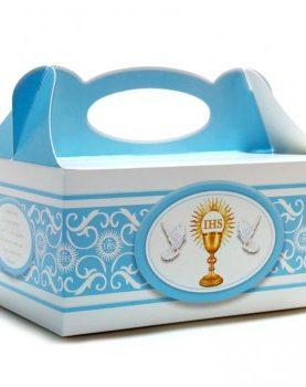Pudełka na ciasto Komunijne dla chłopca