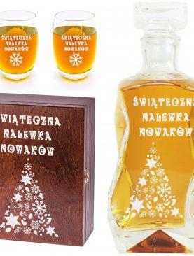 Świąteczna karafka i szklanki - zestaw pod choinkę