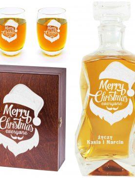 Mikołajkowy prezent - karafka i 6 szklanek