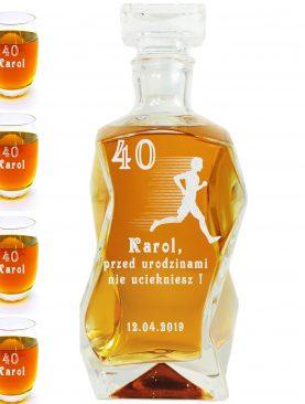Karafka plus szklanki - Przed 40 nie uciekniesz - Dla sportowca