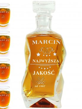 Karafka + 6 szklanek Najwyższa Jakość