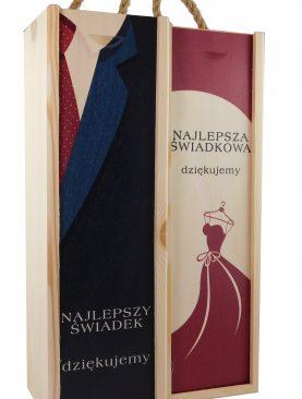 Skrzynki dla Świadków z kolorowym nadrukiem UV - sukni i garnitur