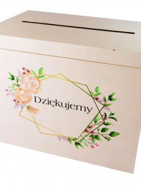Kufer na koperty ślubne - wzór geometryczny