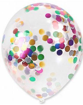 Balon z Konfetti Balony Krystaliczne 40 cm Party