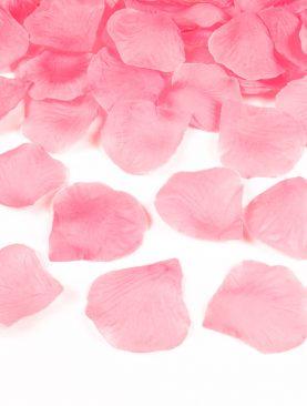 Płatki róż w woreczku 500 szt MEGA ślub JASNY RÓŻ