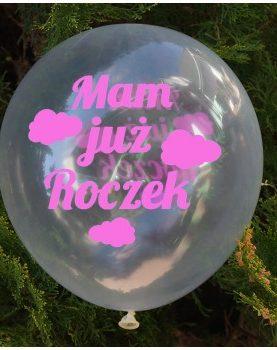 Balon urodzinowy dla dziewczynki – przezroczysty  – kolekcja Babeczka