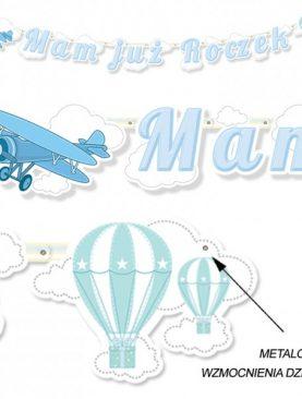 Baner 1 urodziny – Mam już roczek – wzór babeczka dla chłopca