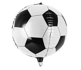 Balon foliowy piłka czarno biało - dla fana piłki nożnej
