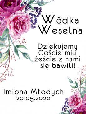 Etykiety naklejki na wódkę wesele ślub Z IMIONAMI