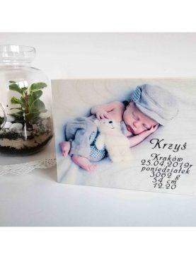 Kuferek wspomnień z okazji Chrztu, urodzin z nadrukiem zdjęcia
