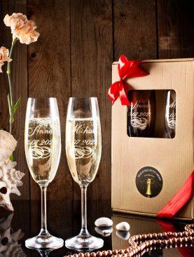 Komplet kieliszków do szampana z indywidualnym grawerem
