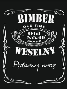Bimber WESELNY - etykiety na alkohole własnej produkcji