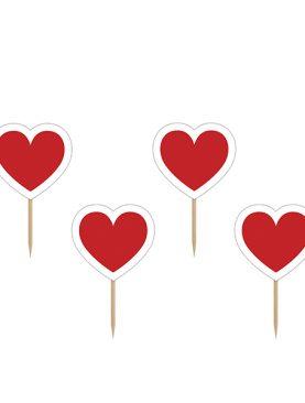 Karteczki na piku SERCE serca serduszka na patyku