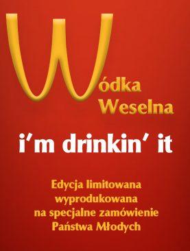 Naklejki na butelki weselne - ala McDonald's