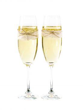 Kieliszki do szampana Vintage - komplet 2 sztuki