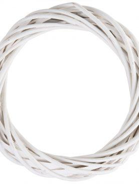 Wianek z wikliny wianki wiklinowe biały 30cm