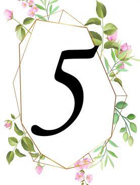 Numer stolika numeracja Komplet numer 3