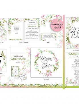Śliczne zaproszenia ślubne Komplet Numer 3