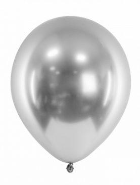 Balony METALICZNE ślub URODZINY 10szt srebrne