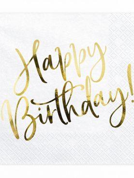 Serwetki URODZINOWE happy birthday chusteczki