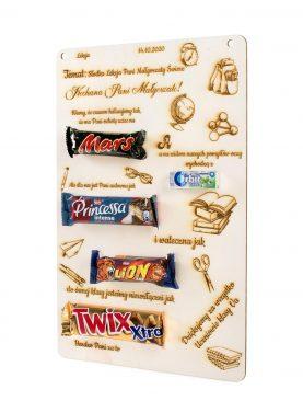 TABLICZKA NA ZAKOŃCZENIE roku nauczyciela słodycze