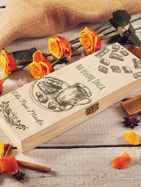 SKRZYNKA pudełko na czekoladę prezent Urodziny, Imieniny, Dzień Babci