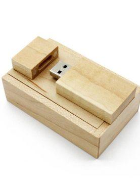 Pendrive drewniany w pudełku 16GB hurt