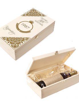 Skrzyneczka kuferek na alkohol, prezent na każdą okazję