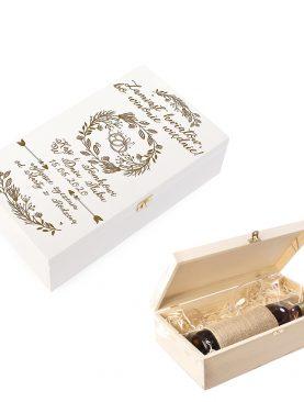 Biała skrzynia na prezent dla Świadków, Rodziców, Dziadków