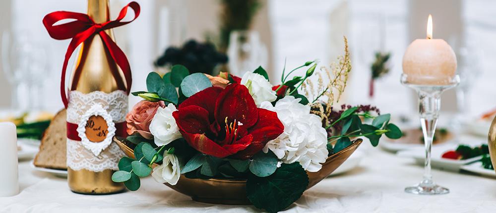 Kolor wina wykorzystany na weselu