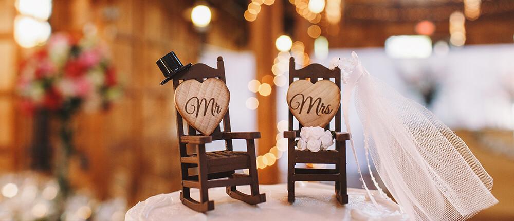 Drewniane dekoracje i dodatki ślubne