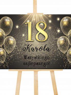 PLAKAT na 18-stkę plansza urodzinowa powitalna